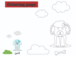 The animation is completely made using the svg animation functionality. Dog Puppy Coloring Kids Graphic By Optimasipemetaanlokal Creative Fabrica