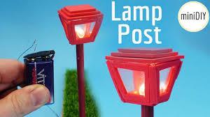 Miniature Village Street Lights Diy Miniature Lamp Post Youtube Diy Dollhouse Garden