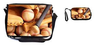Purse Design Games Rikki Knight Vintage Baseball Equipment With Bat Balls And Glove Design Messenger Bag School Bag Laptop Bag With Padded Insert Includes Ukbk