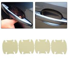 4pc car door handle scratches guard protector sticker protective cover film