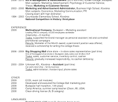 Template Resume Examples For Fast Food Interesting Format Crew With