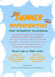 summer opportunities jobs internships volunteering summer opportunities jobs internships volunteering