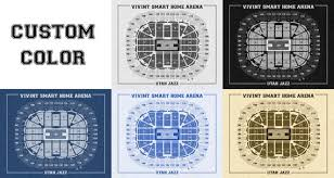 Vivint Smart Home Arena Seating Chart Vintage Print Of Vivint Smart Home Arena Seating Chart On Premium Photo Luster Paper Heavy Matte Paper Or Stretched Canvas Free Shipping