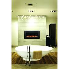 allure phantom inch wall mount electric fireplace with mesh non reflective screen 42 lyndon linear heater