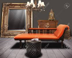 Living Room Antique Furniture Vintage Furnitures Decorated In Living Room Stock Photo Picture