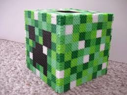 17 best images about hama perler box perler beads perler creeper tissue box cover by iheartkitties com on