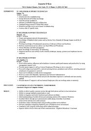 computer support technician resume desktop support technician resume sample resume sample