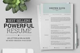 Best Words For Resume Adorable 48 Eye Catching CV Templates For MS Word Free To Download
