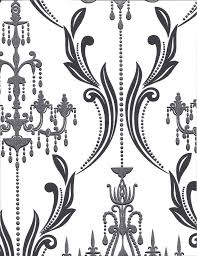 formal blk damask w silver glitter chandeliers n white 27 black and white chandelier wallpaper house