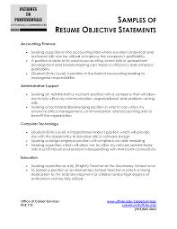 Resume Objective Finance Finance Resume Objective Statements Shalomhouseus 11