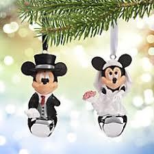 disney wedding ornaments. mickey and minnie mouse wedding bell ornament set disney ornaments