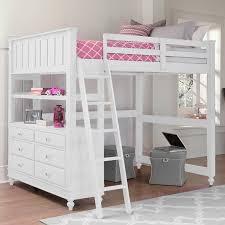 loft beds with desk for girls. Unique Desk White Girls Loft Bed With Desk Throughout Beds For F