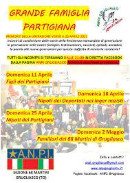 Grande famiglia Partigiana – Memorie della Liberazione verso il 25 Aprile  2021 – ANPI Grugliasco
