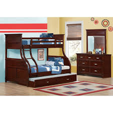 bunk beds for girls twin over full. Unique Over Skylar Twin Over Full Bunk Bed Collection  Bed Dresser U0026 Mirror  Cherry Throughout Beds For Girls L