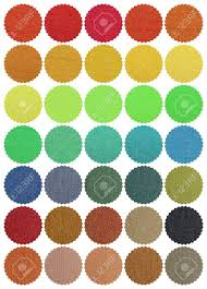 Color Chart Textile Cotton Fabrics Look