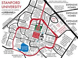 stanford university campus culture map – urbane map store