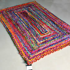 rag rugs modern braided rug in colorful cotton chindi contemporary colorful design reversible 3 x 5 feet avioni premium eco collection best