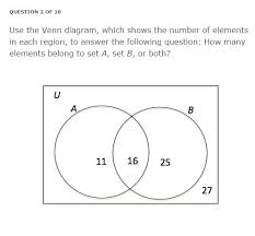 Elements Of A Venn Diagram Solved Use The Venn Diagram Which Shows The Number Of El