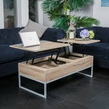 captivating raise top coffee table of rustic modern natural brown wood lift storage
