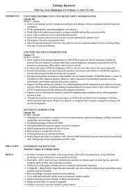Security Coordinator Resume Samples Velvet Jobs