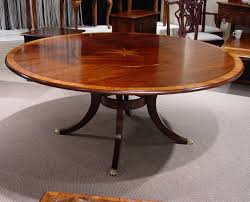 mid cherry yew wood banded 72 round table with starburst inlay flush lazy susan