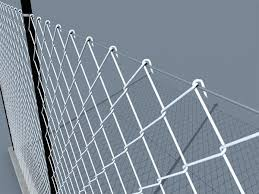 Metal Fence 3d Model Metal Chain Link Fence 3D Objects