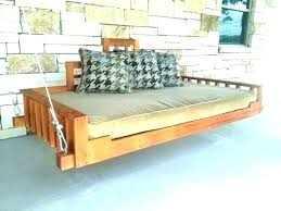 hanging daybed twin bed swing porch plan for outdoor plans p with pillows
