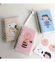 Hot Sale <b>Simple</b> Style Snoopy Loose <b>Page</b> Handbook A6 Grid ...