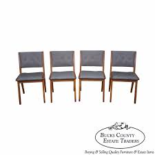 set of 4 dining chairs. Jens Risom Mid Century Modern Set Of 4 Dining Chairs By Knoll N