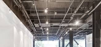 exposed ceiling lighting. exposed ceiling showing lighting grid and ductwork image poolexposed ceilings pinterest architecture n