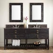 Pine Bathroom Cabinet 72 Benoist Reclaimed Wood Double Vanity For Undermount Sink