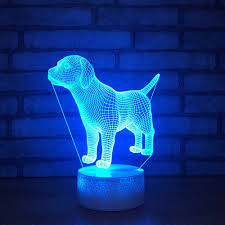 Led Dog Box Lights Us 12 8 20 Off 3d Labrador Retriever Model Baby Night Light 7 Colors Change Dog Led Table Lamp Kids Toys Xmas Gift In Led Night Lights From Lights