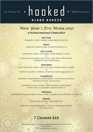 New Year Menu New Years Eve Menu Picture Of Hooked Restaurant Alnmouth
