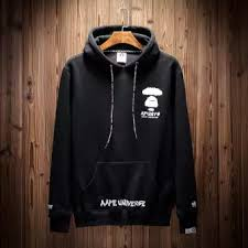 Aape Hoodie Size Chart Aape Men Hoodies Sweatshirts Plus Velvet Ball Sweater Hooded Clothing