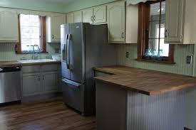 pine wood harvest gold lasalle door annie sloan chalk paint kitchen cabinets backsplash subway tile laminate