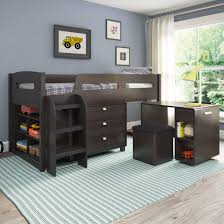 espresso corliving madison 5pc all in one single twin loft bed sets a junior loft bed