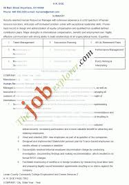 Hr Resume Templates Stunning Hr One Page Resume Examples Yahoo Image Search Results Human