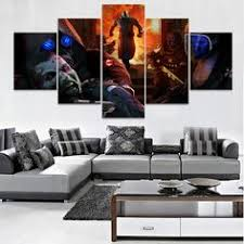 5 Pieces Canvas HD <b>Printing</b> Painting Wall Art <b>Hard Rock</b> Concert ...