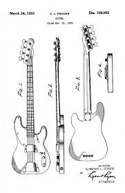 patents for music instruments steve wolf of swing speak fender precision bass patent d169062