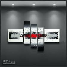 black white and red wall art black and white framed wall art 2018 framed 5 panels black white and red wall art  on black red and white wall art with black white and red wall art black white red wide stretch 4 panel