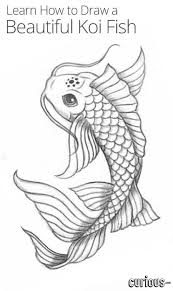 koi fish drawing. Plain Koi In This Lesson Learn How To Draw A Magical Koi Fish That Is Cool Enough  Be Tattoo Throughout Koi Fish Drawing U