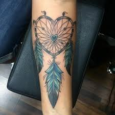 Heart Dream Catcher Tattoo 100 Unique Dreamcatcher Tattoos with Images Dreamcatcher tattoos 19