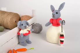 knitted toys unusual handmade soft toys childrens toys 2 pieces knitted toy gifts for kids