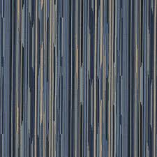 Small Picture Navy Blue Gold Abstract Striped Contract Grade Upholstery Fabric