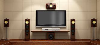 TV and speakers