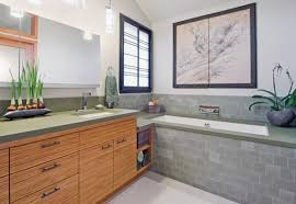 Asian Bathroom Vanity Cabinets Zen Bathroom With Asian Vanity Cabinets And Vessel Sinks Also With