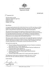 department of health letter of transmittal letter of transmittal