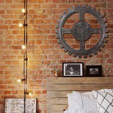 Industrial Style Wooden Gear Wall Decor Vintage Home Bar Pub Hanging Decor 40cm