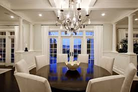 formal dining room decorating ideas with shining chandelier 60 inch round dining table