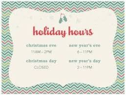 Hours Of Operation Template Free Holiday Hours Template Free Download